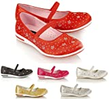 GIRLS KIDS CHILDRENS DIAMANTE CASUAL PROM WEDDING SHOES PARTY SANDALS
