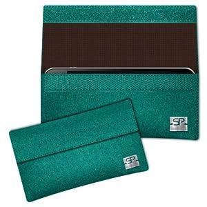 SIMON PIKE Hülle Handytasche NewYork 2 smaragd für HTC ONE mini aus Filz