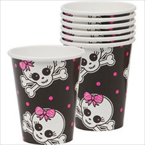 Punk Princess Skull Paper Cups (8ct)
