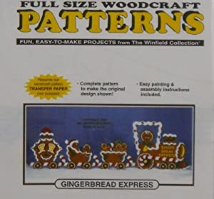 Gingerbread Express Christmas Yard Art Woodworking Pattern