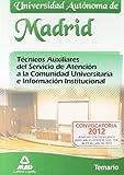 Temario - tec. aux. servicio atencion comunidad univ. Madrid (Madrid (mad))