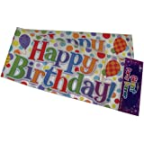 Happy Birthday - Male Female Giant Party Wall Banner 3 Banners Party Decoration