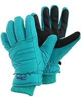 Womens/Ladies Padded Waterproof Thinsulate Thermal Ski Gloves