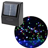 AGPtek® 55ft Waterproof 100 LED Solar Fairy Lights (Multi Color) Garden Xmas Party