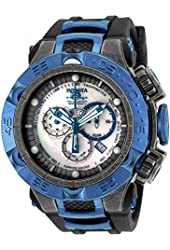 New Mens Invicta 18176 Subaqua NOMA V Chronograph Black Rubber Strap Watch