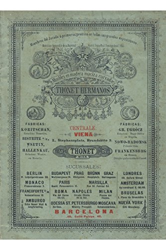 Hermanos Thonet. Catalogo de Venta de 1891.