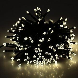 Lixada Solar-powered Waterproof LED Fairy String Lights for Christmas Decoration from Lixada