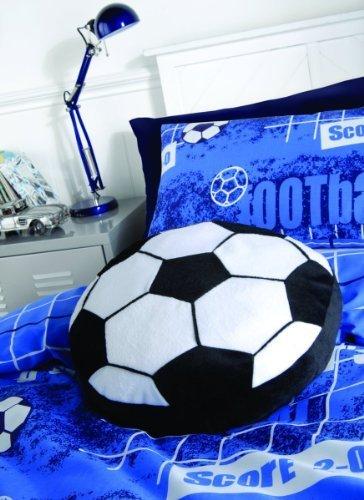 Neues Gefülltes Rundes Schwarz Weißes Fußball Kissen