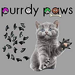 Soft Nail Caps For Cat Claws BLACK MEDIUM * Purrdy Paws Brand
