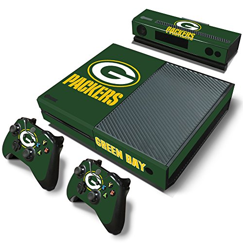 Xbox One Console Skin Decal Sticker Green Bay Packers + 2 Controller & Kinect Skins Set ...