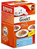 Gourmet Mon Petit Tempting New Fish Recipes with Cod Sardine and Salmon Wet Cat Food (Pack of 8)