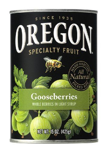 Oregon Fruit Gooseberries In Light Syrup, 15-Ounce Cans (Pack Of 8) front-889655