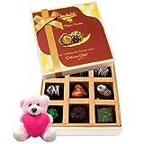 Valentine Chocholik Premium Gifts - Awesome Surprises Of Dark Chocolate Box With Teddy