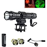 oT-Spot 501B Cree XM-L2 LED 5-Mod Flashlight Torch Lamp with Two Cree Q5 Led Bulbs, perfect for Home Use and Outdoor Sports like Hunting, Camping, Hiking, Caving, etc