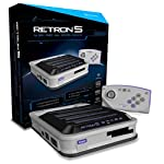 RetroN 5 9 in 1 Grau Retro Gaming Console - Plays NES, Mega Drive, Genesis Cartridges