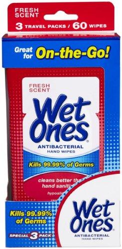 Wet Ones Antibac Hand Wipes Travl Sz 3Pk/20Ct 6/