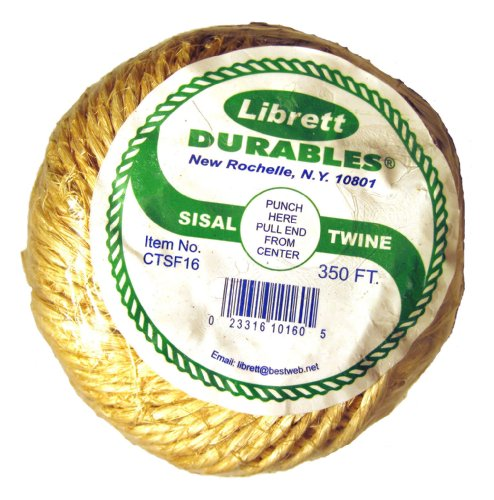Librett Biodegradable Sisal Twine, 350 FT - 16oz - 2 Ply
