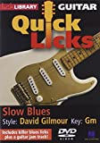 Quick Licks - Dave Gilmour Slow Blues- DVD For Guitar