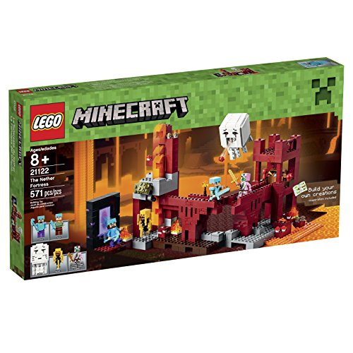 LEGO-Minecraft-21122-the-Nether-Fortress-Building-Kit