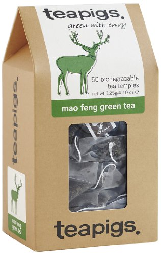 Teapigs Mao Feng Green Tea 125 g (Pack of 1, Total 50 Tea Bags)