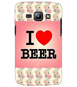SAMSUNG GALAXY J1 I LOVE BEER Back Cover by PRINTSWAG