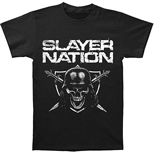 "Slayer-Cover adesiva Slayer-Maglietta, motivo ""Nation nero Large"
