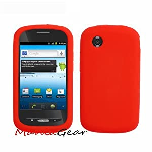 Amazon.com: [ManiaGear] Red Silicone Skin For ZTE Merit 990G/Avail