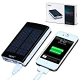 GRDE® 10000mAh Solar Charger Portable Dual USB Shockproof Solar Power Bank / Backup Battery Charger ;Emergency Charging for iPhone 6 Plus 5S 5C 5 4S, iPod iPad HTC Samsung Blackberry and GPS,Tablets,Camera(Apple Adapters Not Included)