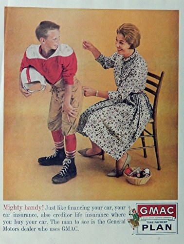 gmac-time-payment-plan-60s-vintage-print-ad-color-illustration-mom-sewing-up-sons-pants-original-196