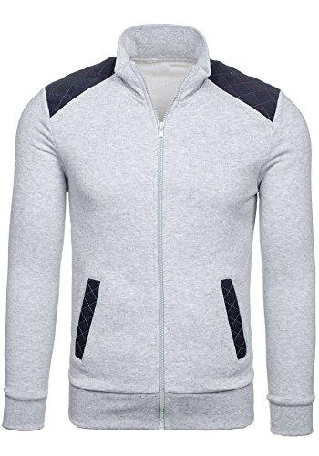 BOLF - Felpa senza cappuccio - Con cerniera - Sweat-shirt - STX CALVIN - Uomo - XL Grigio [1A1]