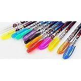 J-CBZ Disney Lot de 12 stylos à gel métallique et brillant Motif Elsa, Anna, Hans, Kristoff et Olaf de La Reine des neiges