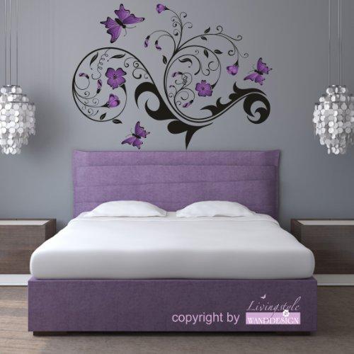 schlafzimmer lila schwarz ~ interieurs inspiration