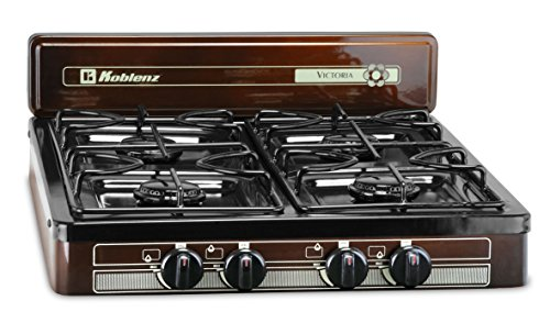 Koblenz PFK-400 Victoria 4-Burner Gas Stove, Bronze (Countertop Gas Burner compare prices)