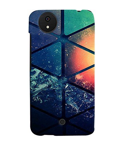 PRINTVISA Abstract Pattern Case Cover for Micromax Canvas Android A1