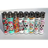 Bundle - 8 Items - Clipper Lighter Sugar Skulls