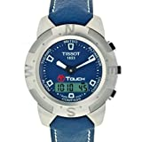 TISSOT Watch:Tissot Men's T33.1.538.41 T-Touch Steel Ana-Digi Multi-Function Blue Watch