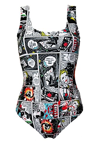 Comic Strip Book Retro Classic Print Swimsuit