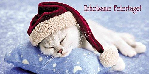 lustiges katzen weihnachtskarten set 12 st quot weihnachts katzen. Black Bedroom Furniture Sets. Home Design Ideas