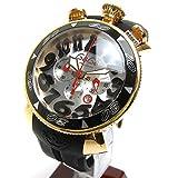 [ガガミラノ]GAGA MILANO 腕時計 マニュアーレ48 クロノ 黒ベゼル メンズ 中古