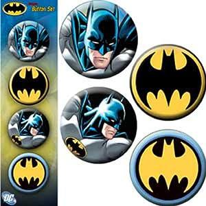 Licenses Products 10 Dc Comics Batman Assorted Artworks 125 Button Set 4-piece at Gotham City Store