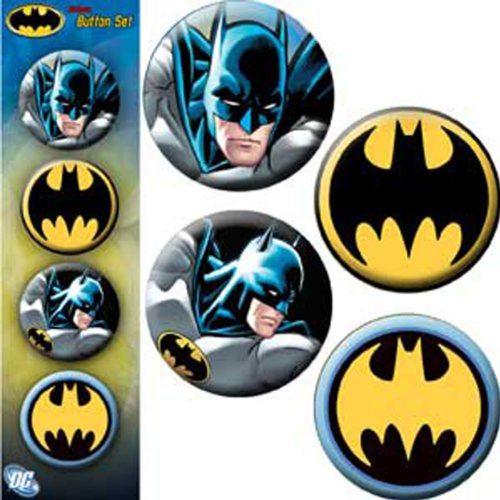 Licenses Products 10 Dc Comics Batman Assorted Artworks 125 Button Set 4-piece at Gotham City Store