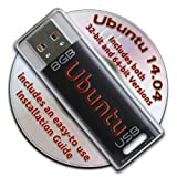 Ubuntu Linux 14.04 Bootable 8GB USB Flash Drive - Contains Both 32-bit and 64-bit.