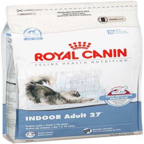 royal canin dry cat food indoor adult 27 formula 15 pound bag new free ship ebay. Black Bedroom Furniture Sets. Home Design Ideas