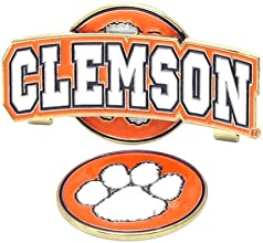Clemson Tigers Slider Clip with Golf Ball Marker Set of 3
