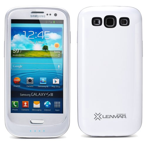 Halo Samsung Galaxy S III / S3 Extended Battery Case - White