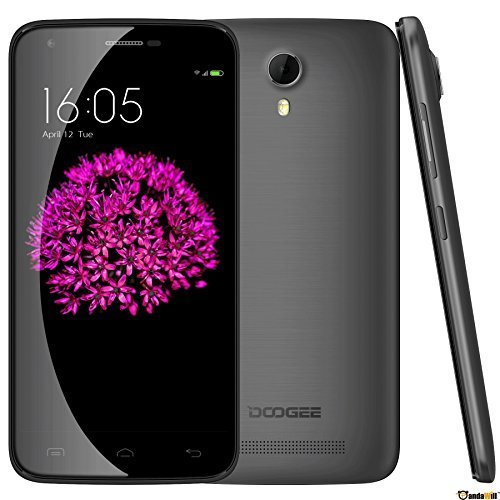 DOOGEE 4G 64bit VALENCIA2 Y100 Pro MTK6735P 1.3GHz Quad core 5.0 Pulgada 1280 x 720 pixels IPS pantalla 2GB+16GB Android 5.1 13MP Cámara Doble SIM tarjeta Smartphone libre desbloqueado Gris oscuro