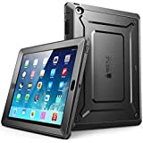 iPad 4 Case, SUPCASE [Heavy Duty] Apple iPad Case [Unicorn Beetle PRO Series] Full-body Rugged Hybrid Protective Case Cover with Built-in Screen Protector for the New iPad 4 & 3 (3rd and 4th Generation with Retina Display), Dual Layer Design + Impact Resistant Bumper (Black/Black)