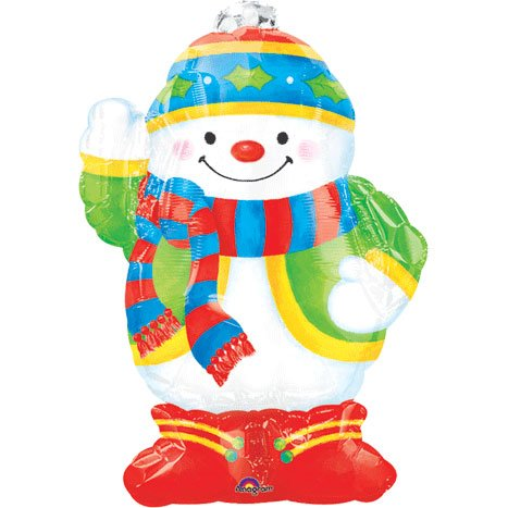 Snowman Full Body Mini Shape Balloon