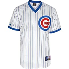 Majestic Athletic Chicago Cubs Ron Santo Replica Cooperstown Home Jersey by Majestic Athletic