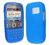 BLUE COLOUR KEY PAD SILICONE PROTECTION CASE COVER FOR NOKIA ASHA 302